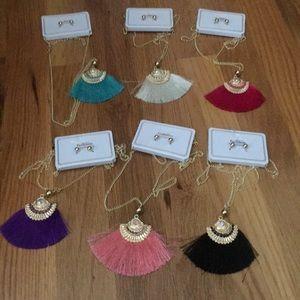 Boho Tassel necklace/earring sets